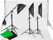 Set de Iluminación de Luz diurna y de Fondos de Estudio BRESSER BR-2105 2925W