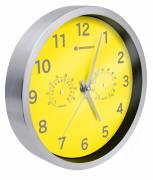 BRESSER MyTime Termo-/ Higro- Reloj de pared 25cm - amarillo