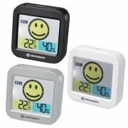 BRESSER Temeo Smile Termómetro y Higrómetro con Indicador de Clima ambiental