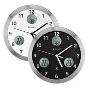 Reloj de pared radio controlado BRESSER MyTime io con Medición de Temperatura y Humedad - Diámetro 30cm