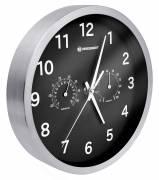 BRESSER MyTime Reloj de pared Termo-/ Higro- 25cm - negro