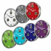 Reloj de Pared radio controlado BRESSER MyTime io NX con Medición de Temperatura y Humedad - Diámetro 30cm