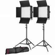 BRESSER LED conjunto de photo/vidéo 2x LS-900 54W/8.860LUX + 2x Soporte de luz