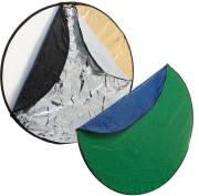 BRESSER BR-TR2 7 en 1 Difusor plegable, Reflector plegable, Fondo plegable 56cm redondo