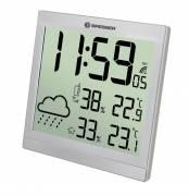 BRESSER TemeoTrend JC LCD Reloj metereológico plata