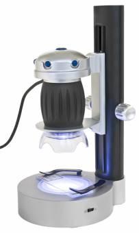 Bresser Junior Microscopio USB portátil con soporte e iluminación LED