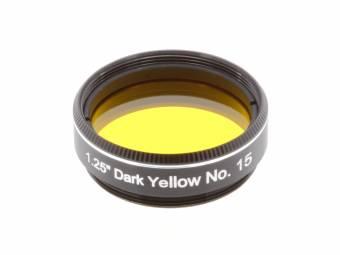 """EXPLORE SCIENTIFIC Filtro 1.25"""" amarillo oscuro nr. 15"""