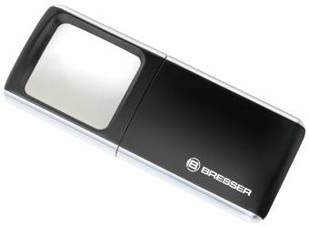 BRESSER Lupa LED-Pop-Up 3x 35x50mm