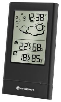 BRESSER TempTrend Estación meteorológica radiocontrolada, negra