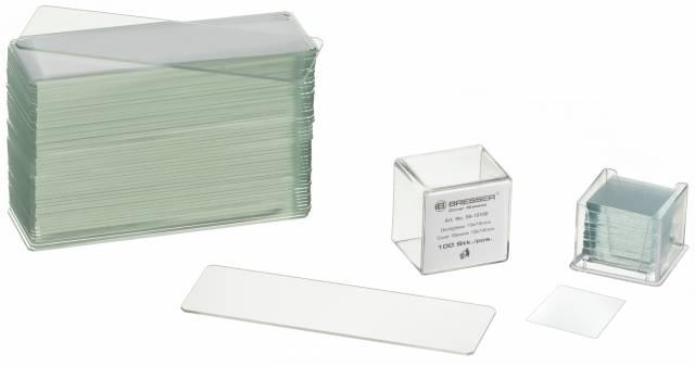 BRESSER Láminas portaobjetos/cubreobjetos 50/100 unidades