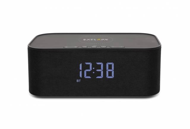 Reloj con altavoz Bluetooth/carga inalámbrica