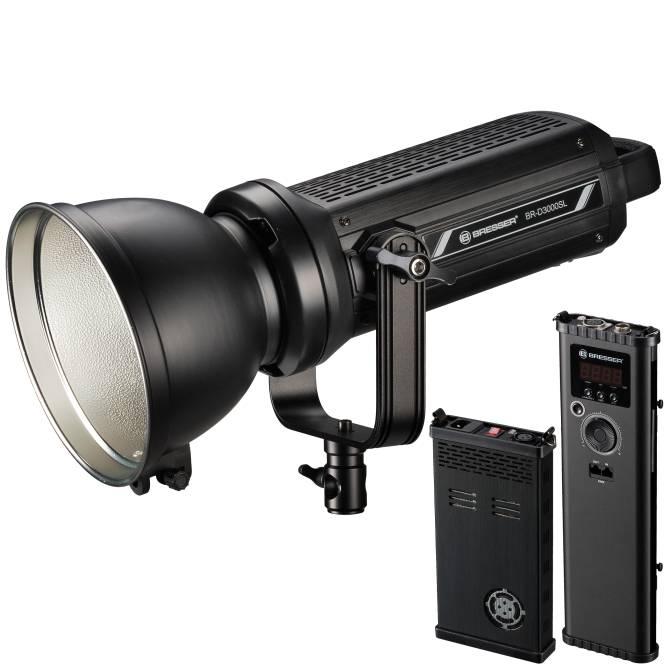 Foco LED COB BRESSER BR-D3000SL con Refrigeración