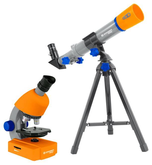 BRESSER Junior Conjunto de Telescopio y Microscopio