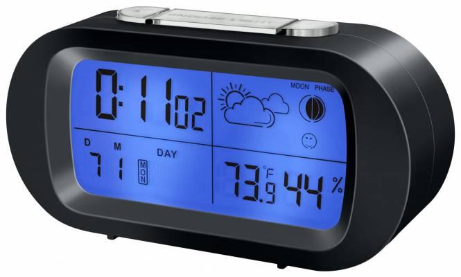 BRESSER MyTime Temeo LCD Reloj Despertador negro