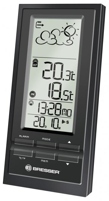 BRESSER NBF-6 Trend Estación meteorológica radiocontrolada, negra