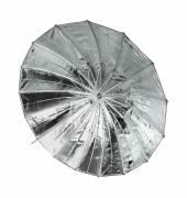 BRESSER SM-9 Paraguas reflector gigante plata/negro 162cm