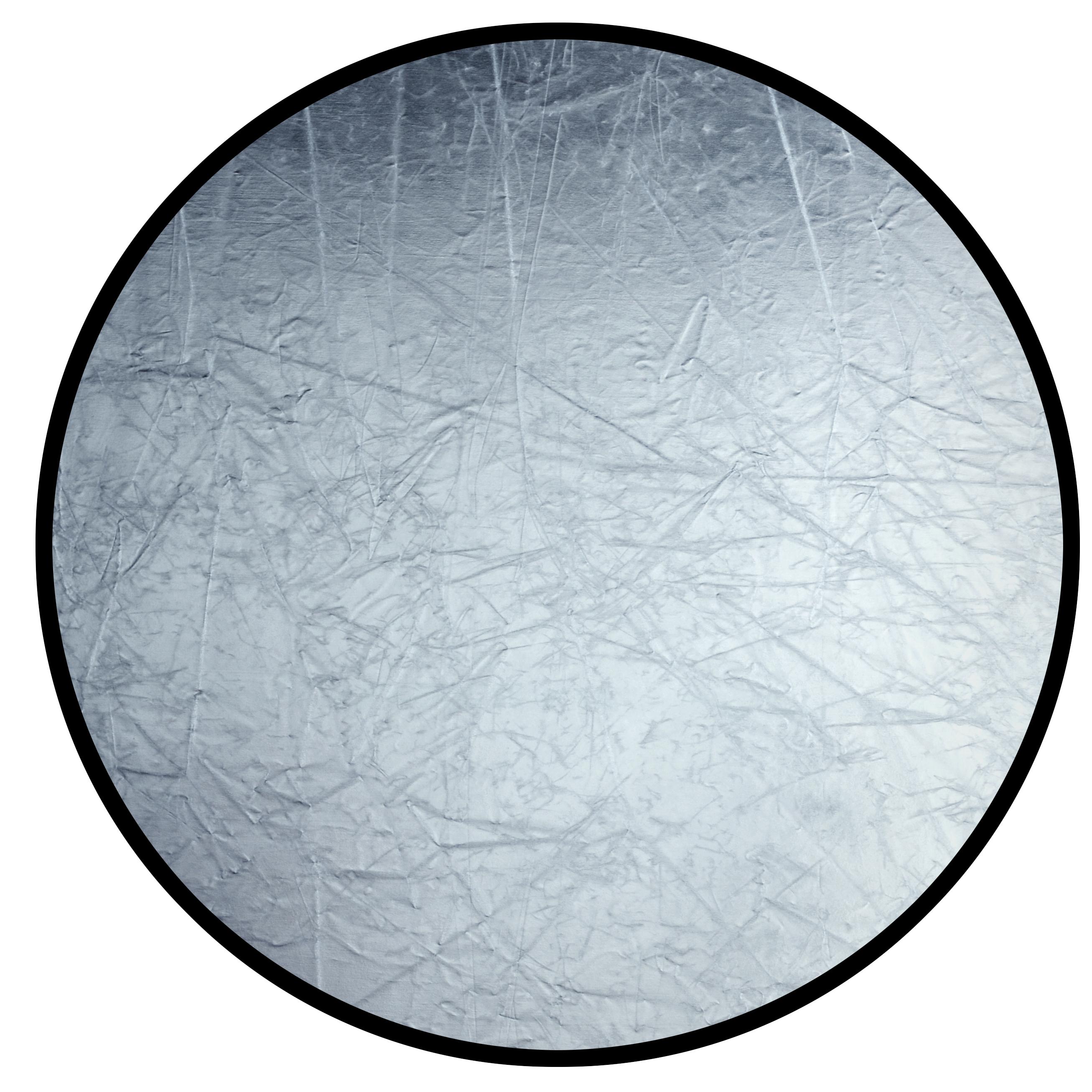 Foto reflector faltreflektor luz reflector blanco plata plegable 110cm